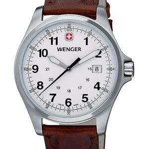 Wenger Men's TerraGraph Series watch-leather band